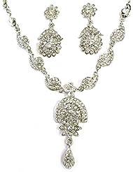 AUSTRIAN DIAMOND NECKLACE SET BY ZAVERI PEARLS - ZPFK1271