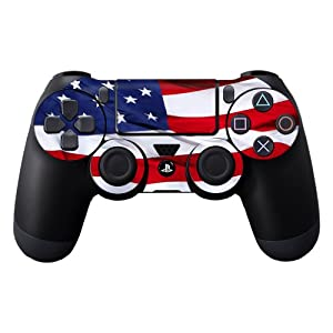 Protective Vinyl Skin Decal Cover for Sony PlayStation DualShock 4 Controller Sticker Skins American Flag