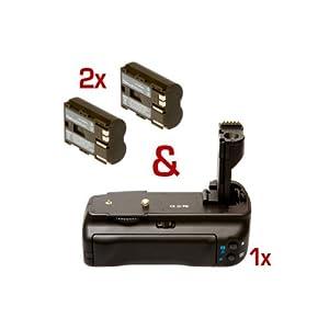 Poignée d'alimentation (grip) & 2 batteries pour Canon EOS 50d 40d 30d 20d - semblable à BG-E2N, BP511A
