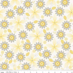 Willow Floral Yellow Yardage by My Minds Eye for Riley Blake Designs SKU # c3071-yellow