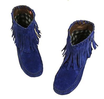 Bottine femme a franges TONKA, chaussure femme, botte a franges, botte