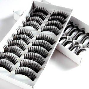 20 Pairs Black Thick Natural Long Makeup False Fake Eyelash Eye Lashes #140