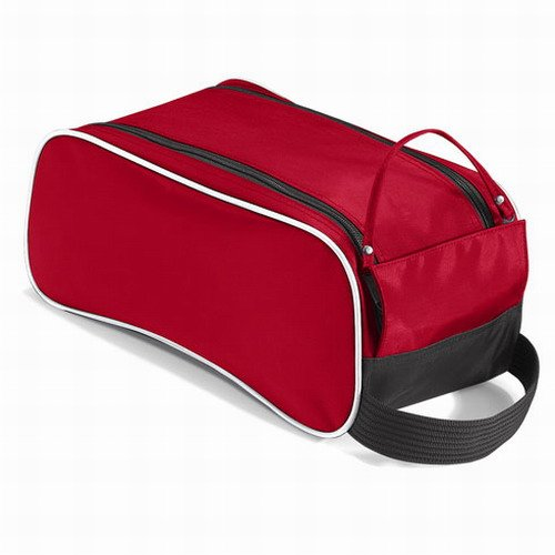 Quadra senior shoe bag in red / black / white