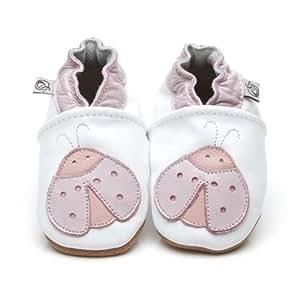Chaussons Bébé en cuir doux - Coccinelle - 12/18 mois