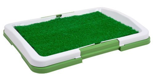 "Puppy Potty Trainer (Green) Indoor Grass Training Patch - 3 Layers - 18"" X 13"" By Planet International [Pet Supplies]"