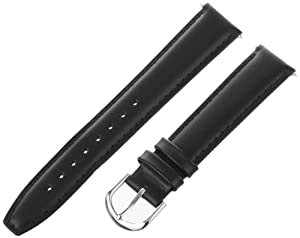 Voguestrap TX48318BK Allstrap 18mm Black Regular-Length Padded Genuine Calf Watchband