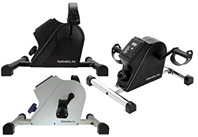 Isokinetics Inc. Deluxe Pedal Exerciser - Fully Assembled Out of the Box - Low Profile, Ideal for Under Desk Use - For Legs and Arms