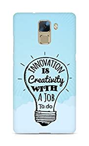 Amez Innovation is Creativity with a Job to do Back Cover For Huawei Honor 7