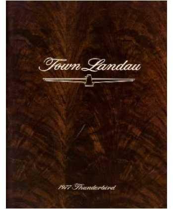 1977 Ford Thunderbird Town Landau Sales Brochure Literature Book Piece Specs front-1005877