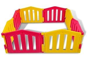Parque infantil / bebé Parque 8 piezas de XXL by LCP Kids ® / barrera de seguridad / Ventosas de goma / Sistema de calidad - EN 71 certificado marca LCP Kids®