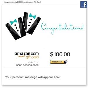Amazon Gift Card - Facebook - Wedding (Two Tuxes)