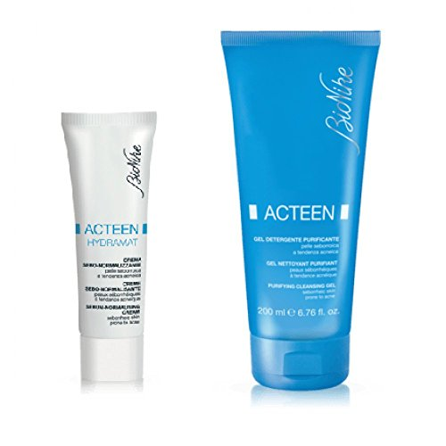 Bionike Acteen Crema Sebo Normalizzante 40 ml + Gel Detergente 100 ml