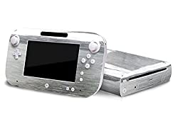 Nintendo Wii U Skin New Brushed Silver System Skins Faceplate Decal Mod