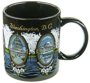 Washington D.C. Mug - Blossoms, Washington DC Mugs, Washington DC Souvenirs, WDC Coffee Mugs