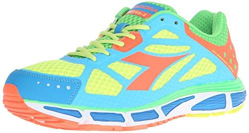 Diadora Men's N-4100-2 running Shoe, Royal/Orange, 11 M US