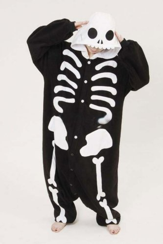 Adult Costume Skeleton Skull Pajamas Japan Anime Sleepwear (Size L) front-796863