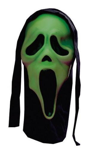 Scream Mask Ghostface Glow in the Dark Adult Halloween Mask