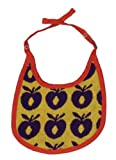 Smafolk Bib with Small Apples Bib (Yellow, One Size)