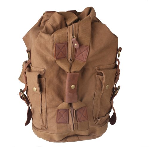 Kattee Canvas Military Style Large Backpack Hiking