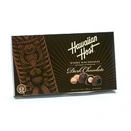 Hawaiian Host Whole Macadamias Premium Dark Chocolate 7 oz Box