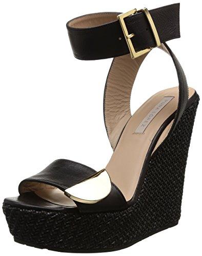 Pura Lopez  Af625T,  Sandali donna Nero Noir (Trenzado Black) 41