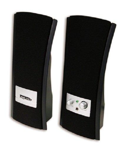 Logilink SP0003 2.0 Multimedia Lautsprecher für PC (6 Watt) schwarz/silber