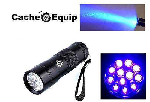 cache-equip-quality-scorpio-12-led-uv-flashlight-geocaching-money-inspection-ultra-violet-black-ligh