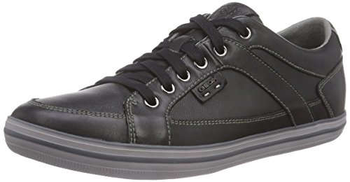 Geox U BOX D, Low-Top Sneaker uomo, Nero, 39