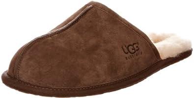 UGG Australia Men's Scuff Suede Slippers, 7, Espresso