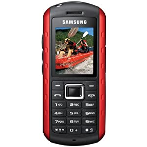 Unlocked Samsung Xplorer B2100 Solid Extreme Anti-Shock Waterproof Quad-Band Phone Red -International version with Embedded Flashlight