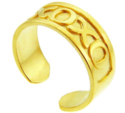 Yellow Gold XO Toe Ring (10K Gold)