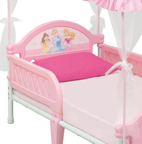 cheap disney princess toddler bed with canopy on sale
