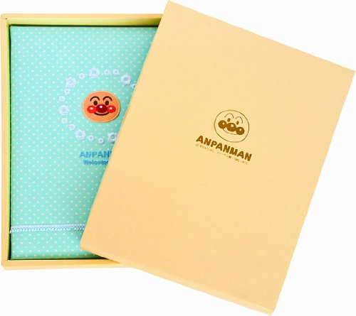 ナカバヤシ アンパンマン 記録(命名)ブック 3ツ折り ブルー TKB-400-2