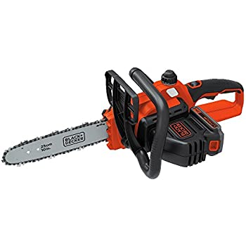 BLACK+DECKER LCS1020 20V MAX Lithium Ion Chainsaw, 10