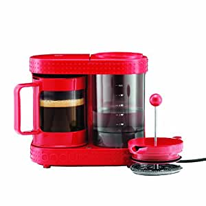 Amazon.com: Bistro 4-Cup Electric French Press Coffeemaker, 0.5-Liter 17-Ounce, Red: Coffee ...