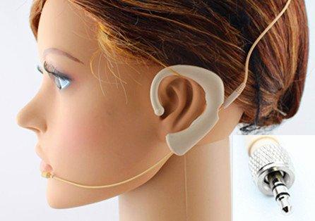 Beige Earset Headworn Headset Microphone Jk Mic-J S62 For Sennheiser Wireless Transmitter - Omnidirectional Condenser Mic