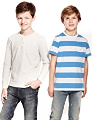 2 Pack Pure Cotton Assorted T-Shirts with StayNEW™