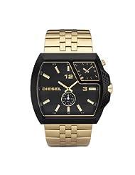 Diesel Gold Tone Dual Dial Watch