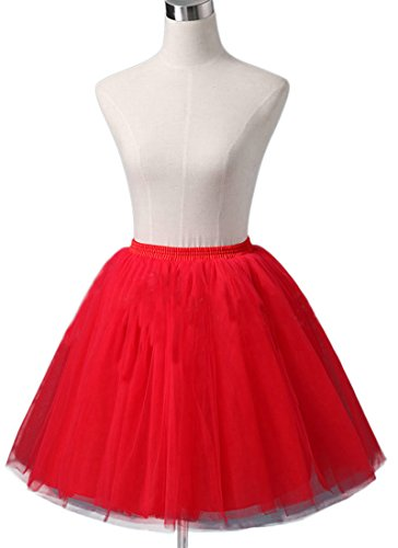 [Sheicon Women Lace Ballet Tutu Princess Dress Dance Skirt For Adult Color Red Size Onesize] (Sexy Hello Kitty Costumes)