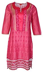 Zele Women's Straight Kurti (Z0004-A_Multi-Colour_Large)