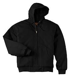 CornerStone Men\'s Heavyweight Full Zip Hooded Sweatshirt with Thermal 6XL Black