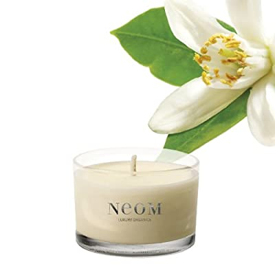 White Neroli Mimosa Lemon Scented Travel Candle By Neom Luxury Organics from NEOM Luxury Organics