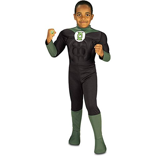 Deluxe Green Lantern Muscle Chest Kids Costume