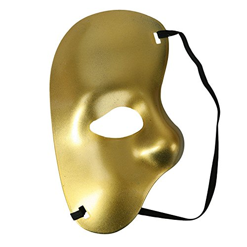 [Sey's Toy - Phantom Of The Opera Masquerade Fancy Half Face Mask Theatre Drama Halloween / Gloden] (Dog Phantom Of The Opera Costume)
