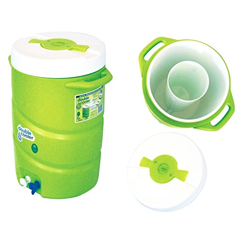 Double Cooler Ice and Beverage Container, 7-Gallon, Green