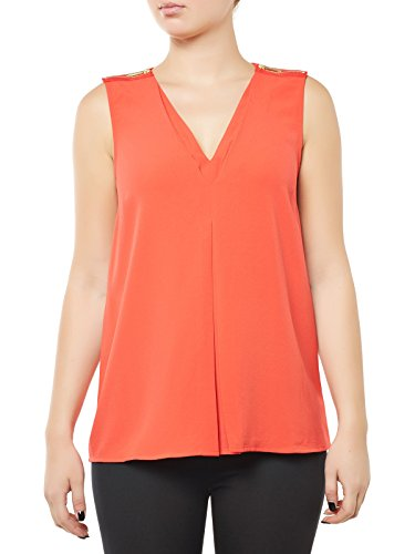 Michael Kors camicia smanicata arancione - L