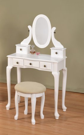 White Vanity With Mirror front-38716