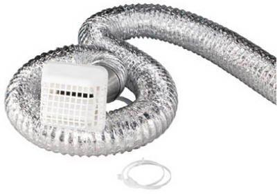 Deflect-O #GBK8W4F White Bath Vent Kit