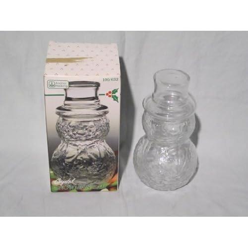 Amazon.com: Anchor Hocking Crystal Snowman Jar w/ Lid - 15