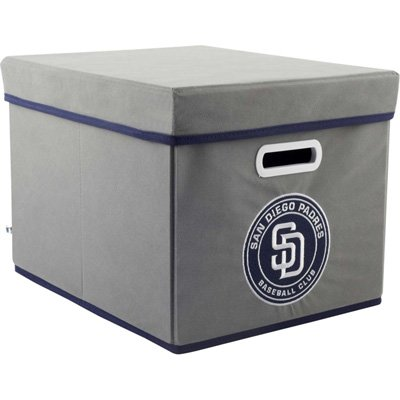 MLB San Diego Padres Fabric Storage Cube, One Size, Gray at Amazon.com